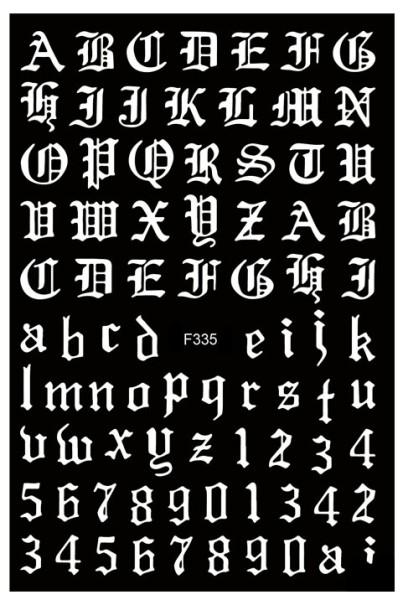 Sticker selbstklebend Buchstaben Letters weiß