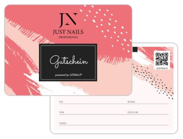 JUSTNAILS 5x Geschenkgutschein Studio 02 rosa