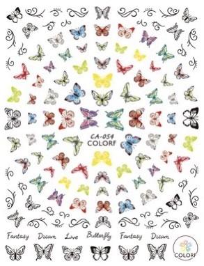 JUSTNAILS 3D Schmetterling Butterfly Sticker selbstklebend - 02