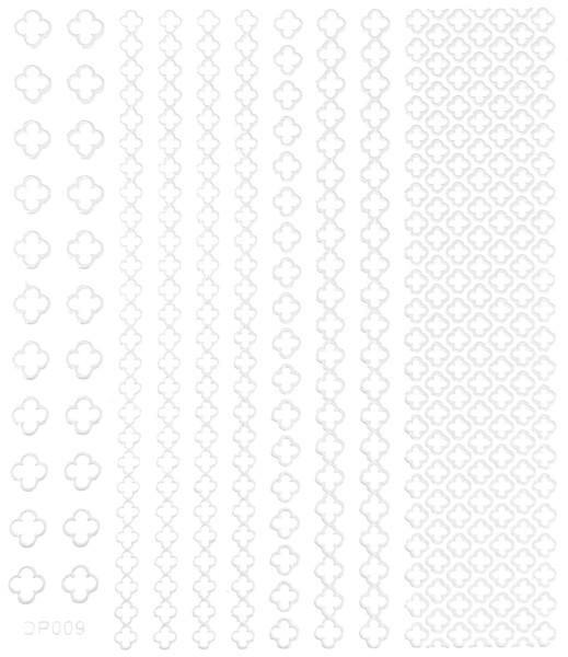 JUSTNAILS selbstklebende Sticker weiß 009