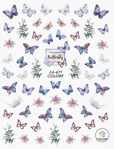 JUSTNAILS 3D Schmetterling Butterfly Sticker selbstklebend - 03