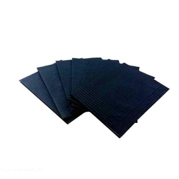 JUSTNAILS 50x einweg Tischunterlagen Pastell schwarz